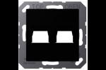 Jung LS990 Afdek Centraalpl 2Xrj45 Utp 8P8C A1569-2WESWM Grafietzwart