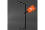 Tro- 138-001 Led Staande lamp zwart FloorLamp 81W 3500K USB&230V Sock