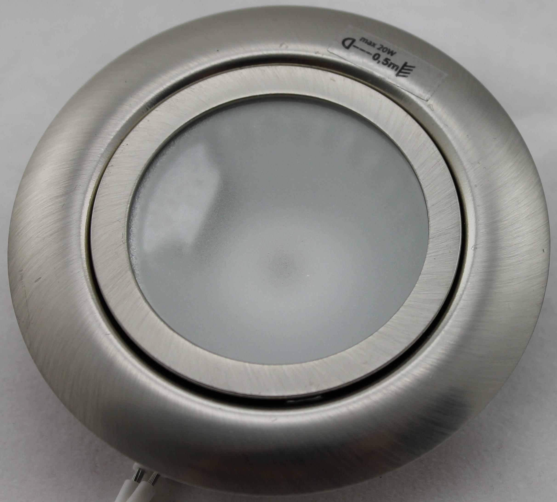 meubelspot halogeenlamp inbouwspot 12v 20w g4 geschuurd chroom
