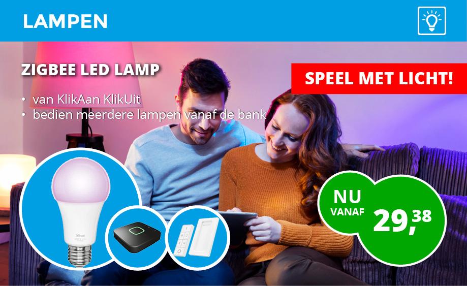 Klikaan Klikuit Led lampen via Smartphone en Tablet